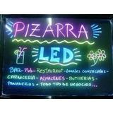 Pizarra Luminosas 50x60 Cm Para Bar, Jueguerias, Restaurante