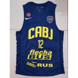 Musculosa Nueva Azul Basquet Boca Juniors Jugador N12