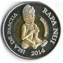 Isla De Pascua - 500 Pesos 2014 - Bimetalica- Sc