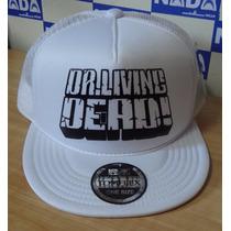 Boné Dr Living Dead Flip Hat Trucker Cap Thrash Metal Branco