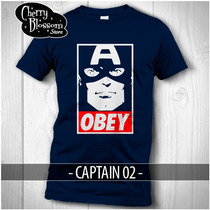 Playeras Captain America Obey Civil War Avengers Marvel