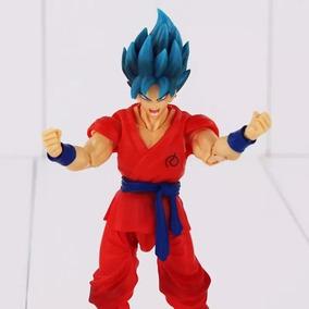 Boneco Articulado Goku Blue Dragon Ball Super Frete Grátis