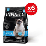 Alimento Gatos Adultos Infinity Premium Pack 6 X 3 Kgs