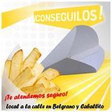 Conos Cucuruchos De Carton Papas Fritas Y Rabas X 300 Unid.