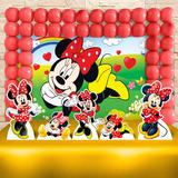 Kit Ouro Decoração Festa Infantil Minne Vermelha Promoção!