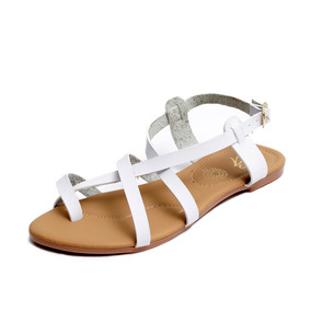 Zapatos Sandalias Huaraches Dama Zapatillas Moda Blanco 1203