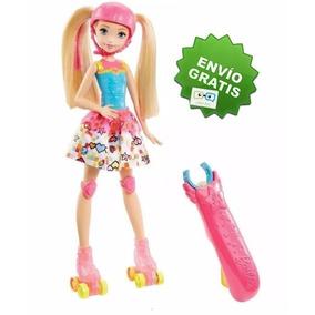 Barbie Patines Brillosos Mundo De Video Juegos Patinadora