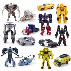 Bonecos Transformers Kit C/ 7 Personagens Robôs Transformers