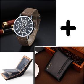 Relógio Masculino Soxy Com Carteira Social Fuerdanni Kit