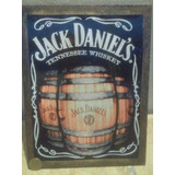 Cartel Madera Whisky Jack Daniels Bar Pub Resto