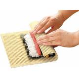 Esteira Sudare Bambu Enrolar Nori Sushi Sashimi Japão Hachi8