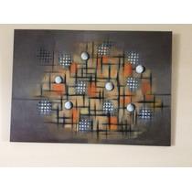 Pintura Moderna Al Acrílico Sin Firma Medidas 70cm.x50cm.