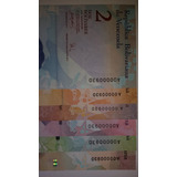 Set De Billetes De 2, 5,10,20,50 Y 1000 Serial A00000930