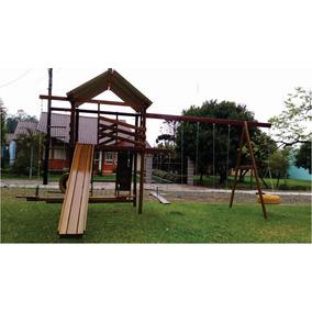 Playground Em Madeira Com 15 Brinquedos Verniz