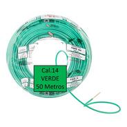 Bolsa 50 Mts Cable Iusa Verde Thw Cal 14 Awg 100% Cobre