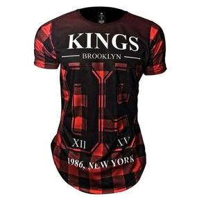 Camisa Oversized Xadrez - Camisetas Manga Curta para Masculino no ... 5d9c0563dff