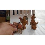 6 Antiguos Muñecos Plasticos Pesebre Navideño-precio X Lote