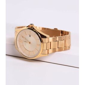 Relógio Technos Dourado Unissex Calendário 2115tf/4x Wr 50m/