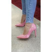 Scarpin Verniz Rosa Bebê/coloridos Fretegrátis Week Shoes