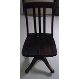 Cadeira Xerife Giratória Antiga, Em Madeira