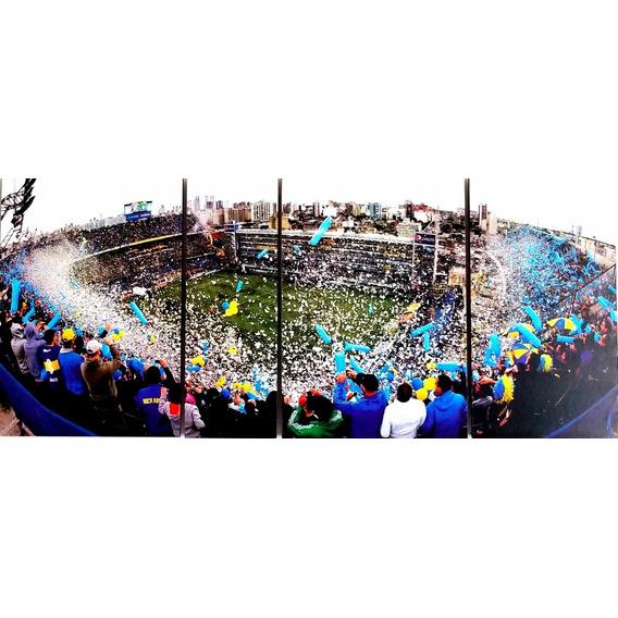 Cuadro Boca Juniors Bombonera Futbol Poliptico Panoramico