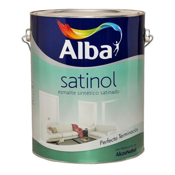 Esmalte Sintetico Satinado Satinol Blanco Alba 0,5 Lts  M M