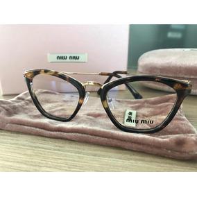 4489f9c5d3f04 Armaã§ã£o De óculos Feminino Grau Miu - Óculos no Mercado Livre Brasil