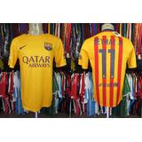 ef2774abf3 Barcelona 2015 Camisa Reserva Tamanho M Número 11 Neymar Jr.