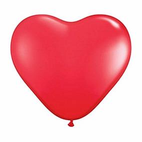 Balão/bexiga Coração Tamanho 6 Com 50 Unidades Vermelho