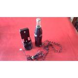 Coca Cola Teléfono Botella Con Soporte Funciona Impecable