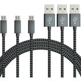 Cable Micro Usb, [3-pack] Vodool 6 Pies / 1,8 M De Alta Cali