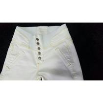 Calça Klepton Com Elastico Na Cintura Branca Ref 6717