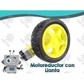 Motorreductor Con Llanta De Goma Proyectos Arduino Pic