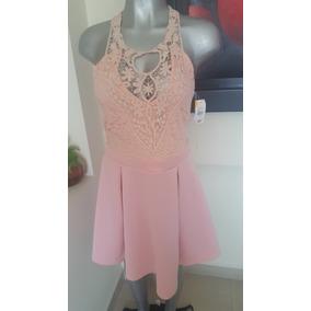 Elegante Vestido Rosa Marca Vertiche Liquidacion$ 350