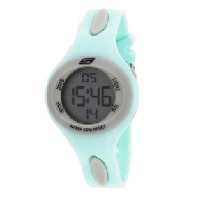 Skechers Sr2021 Reloj Dama, Extensible Plástico Menta, Carat
