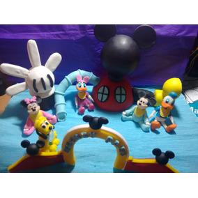 Adorno Torta O Central Porcelana Fria Casa Mickey Y Amigos