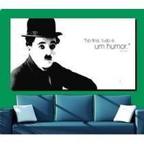 Quadro 105x75 Barato Charlin Chaplin Carlitos