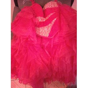 Vestido De Xv Años Rosa Coral Con Pedreria Incluye El Tutu
