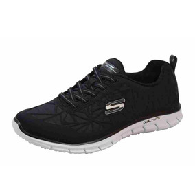 Tenis Skechers In The Zone Negro Dama Mujer Zapatos Rudos