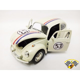 Miniatura Wolks Fusca Herbie Tradicional 1:32 Customizado