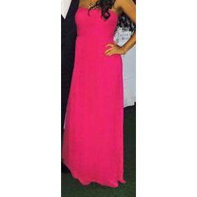 Vestido Largo De Fiesta Color Rosa Fuerte