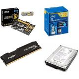 Kit Placa Mãe Processador Hd E Memoria 1150 Pinos Intel
