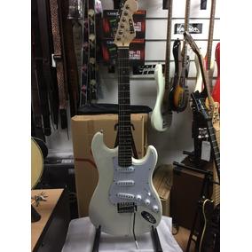 Mirrs Guitarra Eléctrica Stratocaster Blanca Vintage Nueva!