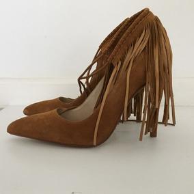 Zapatos Taco Alto Nuevos! Importados Zara Europa, De Gamuza