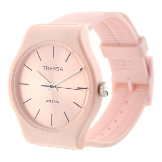 Reloj Mujer Tressa Funny Rose Pearl Sumergible 5atm Tr014