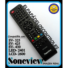 Control Tv Soneview Led Lcd2600 Sv325 Sv425 Sv430 Led2401.