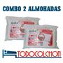 Combo 2 Almohadas Relax Inteligentes Clasica Funda C/cierre