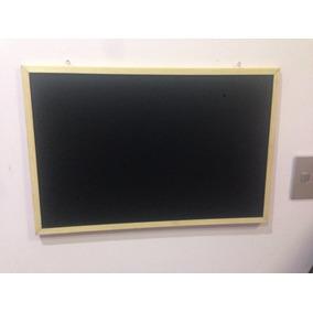 Pizarrón Pintarrón Doble Vista Blanco Y Negro 60 X 40 Cm