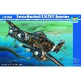 Savoia-marchetti S.m.79-ii Sparviero - 1/48 - Trumpeter