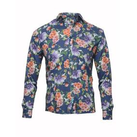 1 Camisa Floreada Hombre Moul Modelo Flores